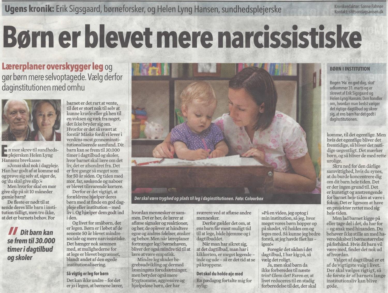 Børn er blevet mere narcissistiske